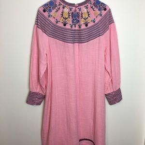 Antik Batik Dresses - Antik Batik Pink Embroidered Dress
